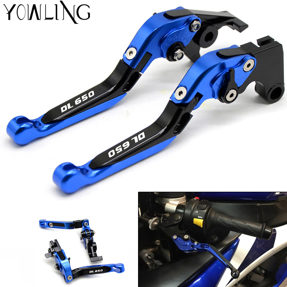 Motorcycle Accessories Folding Brake Clutch Levers For SUZUKI DL650 V-STROM DL 650 V Strom 2004-2010 2005 2006 2007 2008 2009 motorcycle brake clutch levers for suzuki dl1000 v strom 02 03 2004 2005 2006 2007 2008 2009 2010 2011 2012 2013 2014 2015 2016
