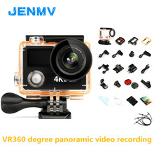 JENMV Action Camera Deportiva Remote Ultra HD 4K 25fps 1080P 60fps dual screen 2.0+0.95 waterproof sport cam camera