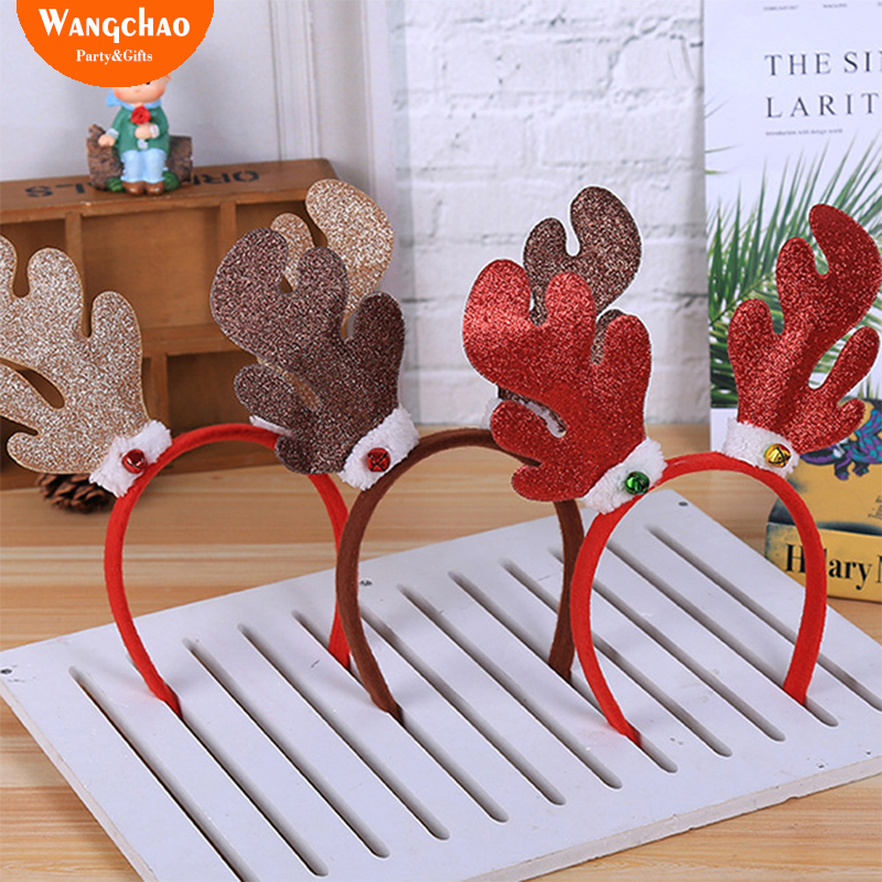 Christmas Headband Craft.Us 1 49 25 Off Reindeer Head Adornment Christmas Headband Antlers Christmas Kids Hair Accessories Horns Cosplay Antler Headband Christmas Deals In