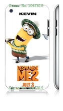 Mobile Phone Case Retail 1pc despicable me minions white hard cases for ipod touch 4 4th