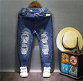 New arrival 2016 autumn Children girls boys casual jeans Kids denim pants Boys fashion ripped jeans 2-7 years