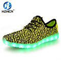 LED Light up Shoes for Adults Fashion Colorful Luminous Shoes with USB Rechargeable 2016 New Men Shoes with LED Lights