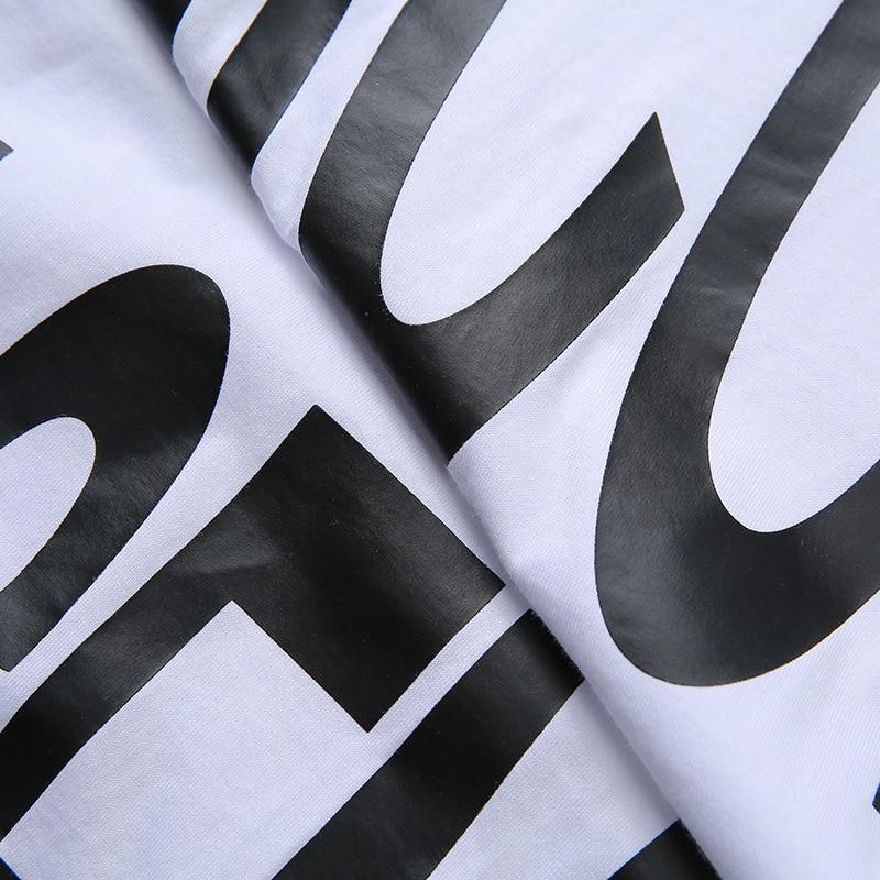 Estate Manica Donne Stampa Lettera collo Lungo Cintura Di Delle O Corta Con 2018 Shirt shirt Black Tees Disegno Bootyjeans Femminile T T wOTxgn