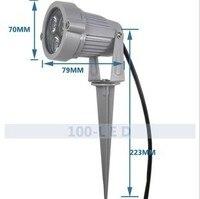 야외 3 w reflectoscope 정원 빛 방수 램프 캐스트 빛 풍경 램프 잔디 램프 12 v 220 v|야외조경조명|등 & 조명 -