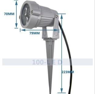Outdoor 3 w reflectoscope garden light waterproof lamp cast light landscape lamp lawn lamp 12 v 220 v(China)
