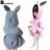 Chica de primavera capa de los bebés chaquetas otoño muchacha del niño ropa del algodón del invierno orejas de conejo sombrero chaquetas para las niñas con capucha capa del bebé