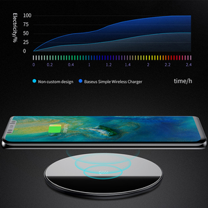 Image 3 - Baseus Qi Wireless Charger For Huawei Mate 20 Pro 10W Fast Wirless Wireless Charging Pad For iPhone 11 Pro Max X Xs Samsung S9