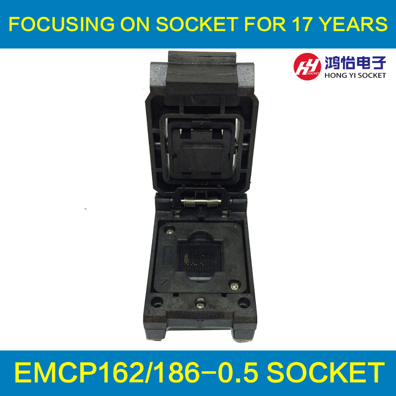 eMCP162 to DIP48 IC Test Socket , for BGA162 BGA186 testing, Chip Size 11.5*13mm, Clamshell Programmer For Data Recovery free shipping programmer testing clip soic 8 soic8 dip8 dip 8 pin ic tools chip way smd programming program testing test clip