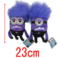 Despicable ME 2 Minions Purple Evil 2 Eyes Plush Doll Toys 23cm High Brinquedos Minion Toys Pelucia Gifts For Kids Children