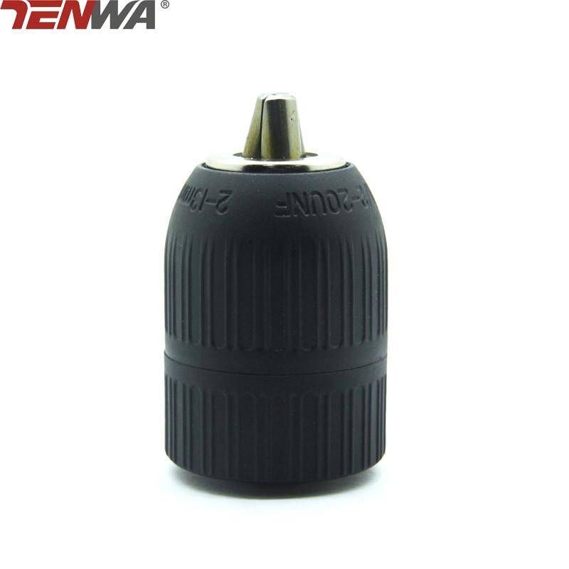 TENWA 2-13mm Keyless Mount Spanner Drill Chuck 1/2