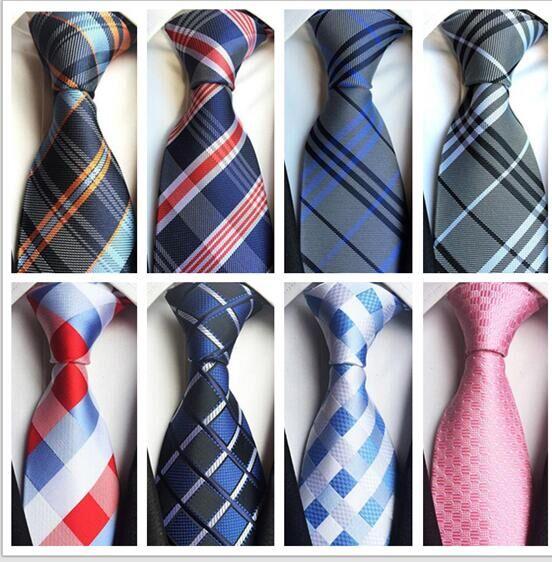 nuova versione vasta gamma cerca il meglio US $6.99  2017 del Commercio All'ingrosso dell'annata moda uomo cravatta  poliestere seta cravatta affari gravata cravatte da uomo plaid stripes  affari ...