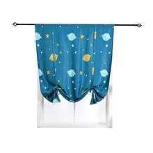 New 1 Piece Cartoon Short Curtain Window Treatment Drapes Blackout for Living Room Kids Bedroom Door