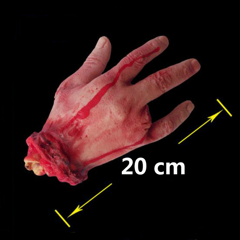 Halloween Horror Props Bloody Hand Haunted House Party Decoration Scary Hand