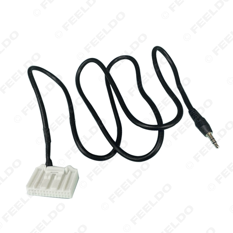 Feeldo Car 3 5mm Audio Aux 28pin Wire Adapter Input Wire Cable For