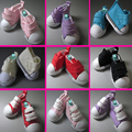 wholesale Doll Accessories shoes 5cm Fashion Denim Canvas Mini Toy Shoes1/6 Bjd Snickers For Tilda