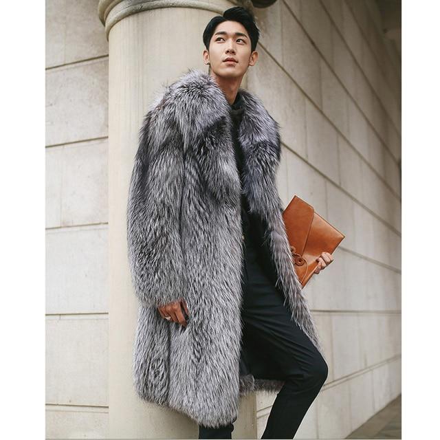 S-6XL! Large size men's wear   2018  New designs for men fur coats of men fur coats