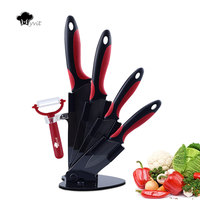 Myvit Brand Home Kitchen Knives 3 4 5 6 Peeler Knife Holder Ceramic Knife Set Black