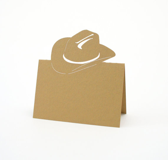 Cowboy hat Place Cards/Escort Cards/ wedding place cards/Westernn party food tent  sc 1 st  AliExpress.com & Aliexpress.com : Buy Cowboy hat Place Cards/Escort Cards/ wedding ...