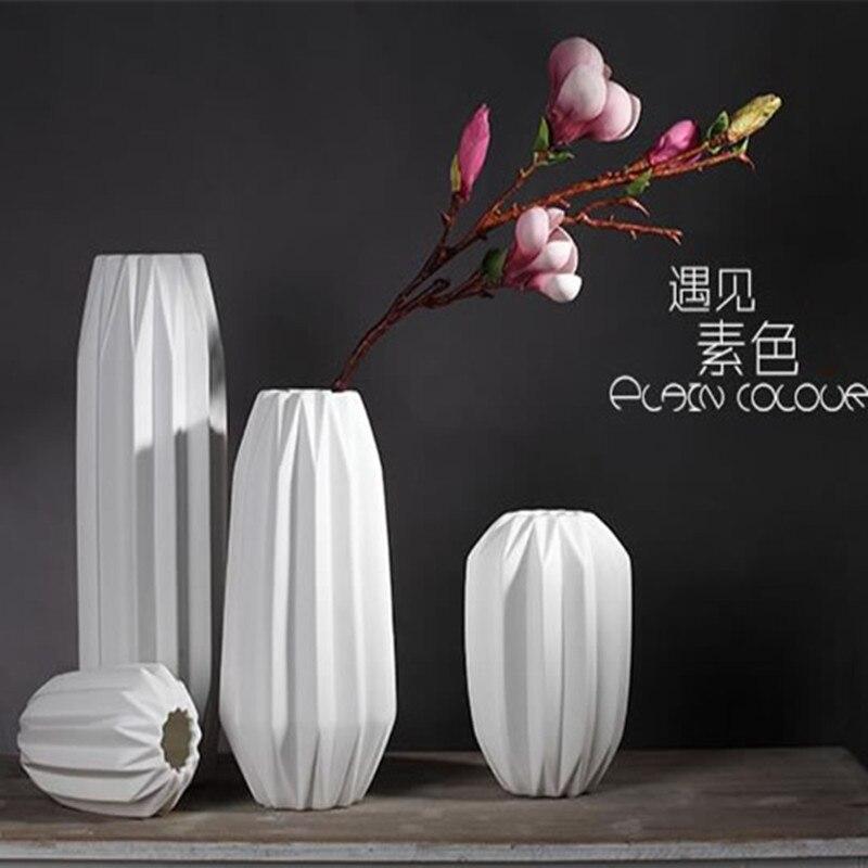 Die Kunst Der Origami Keramik Moderne Weißen Blumenvase Dekoration ...