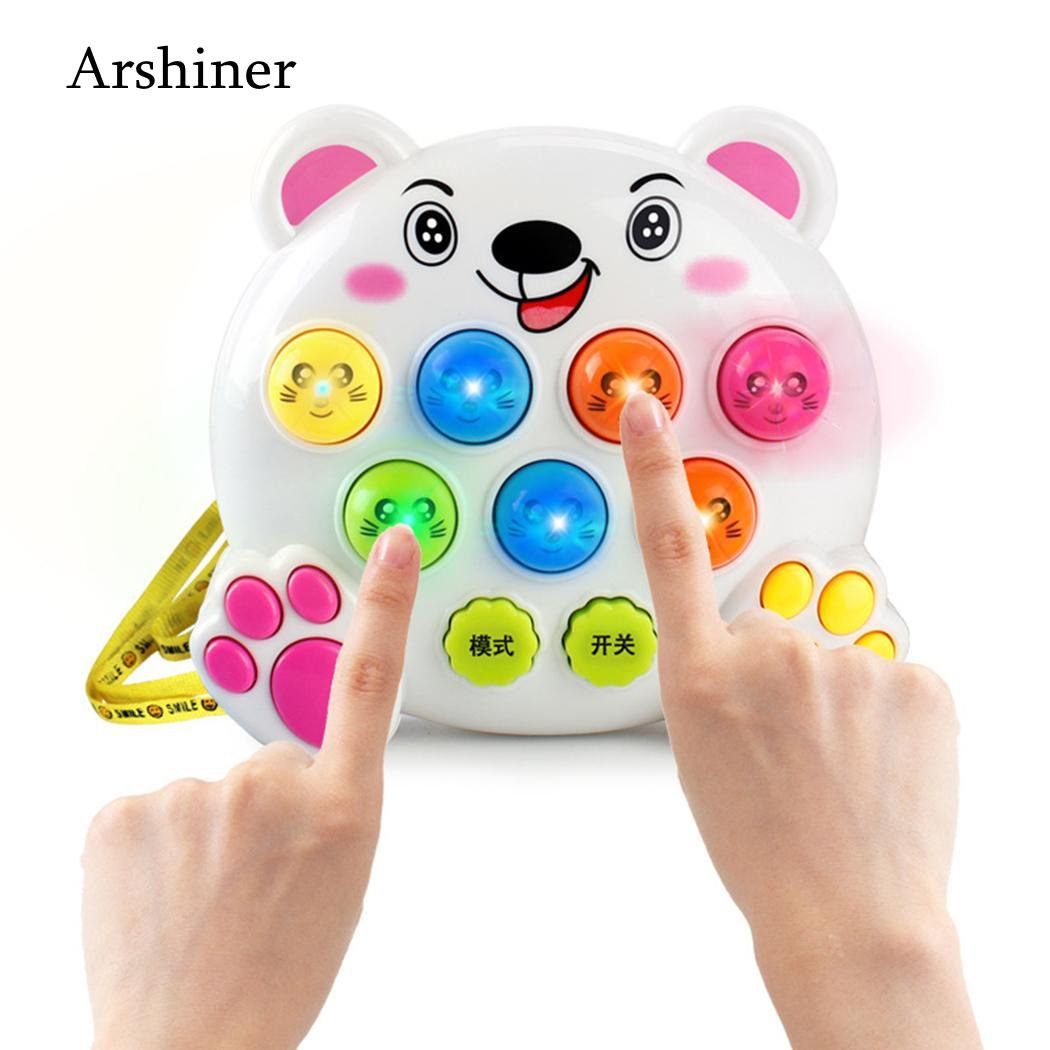 Electronic Toys 1 Pcs Mini Jigsaw Sound And Light Music Beat Hamster Electronic Toy Parent Child Parent-child Interactive Game Toy Beat Machine