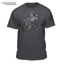 Bob Ross Sketched Riding A Bicycle Licensed T-Shirt Cartoon Print Short Sleeve T Shirt Free Shipping Hot New 2019 Summer Fashion bob ross official everybody needs a friend t shirt summer short sleeves fashion t shirt free shipping funny 100% cotton