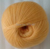 Sale 3balls X 50g LACE Soft Pure High Quality Cashmere Yarn Knitting Orange 014