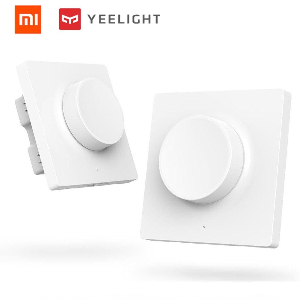 Original xiaomi mijia yeelight inteligente D interruptor de pared y conmutador inalámbrico inteligente para teléfono inteligente aplicación de control yeelight de techo