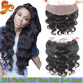 Cheap Lace Frontal Closure Brazilian Body Wave Lace Frontals With Baby Hair From Ear To Ear 13x2 Virgin Human Hair Lace Frontal