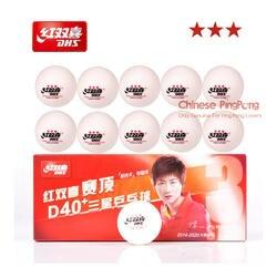 DHS 3-Star D40 + настольный теннис мячи (3 звезды, новый Материал 3-Star швом ABS шары) Пластик поли для пинг-понга