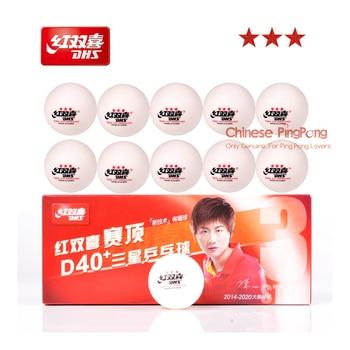 Bonus Pack: 10 Balls/Box Newest DHS 3-Star D40+ Table Tennis Balls New Material Plastic Poly Ping Pong Balls vq30det エキマニ