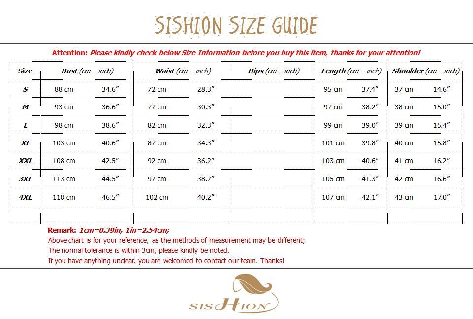 SD0002 Size Chart