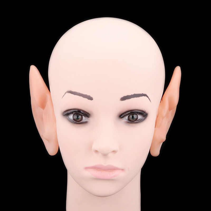 1 пара Хэллоуин ПВХ поддельные эльф Уши Фея Крылья Пикси Хэллоуин маска для вечеринки маска Страшные мягкие остроконечные протезы уши