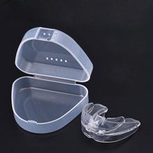 Trener wyrównanie zębów proste urządzenie do zębów dla dorosłych ustnik ustnik uchwyt Dental taca ustnik + pudełko na Permnanet makijaż wargi tanie tanio Tatuaż zestawy JARCY C Tattoo lip braces Silica gel individual package 5pcs Transparent Bleeding lip protector sleeve