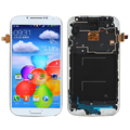 White LCD For Samsung Galaxy S4 i9505 Display + Touch Screen with Digitizer Assembly + Bezel Frame , Free shipping