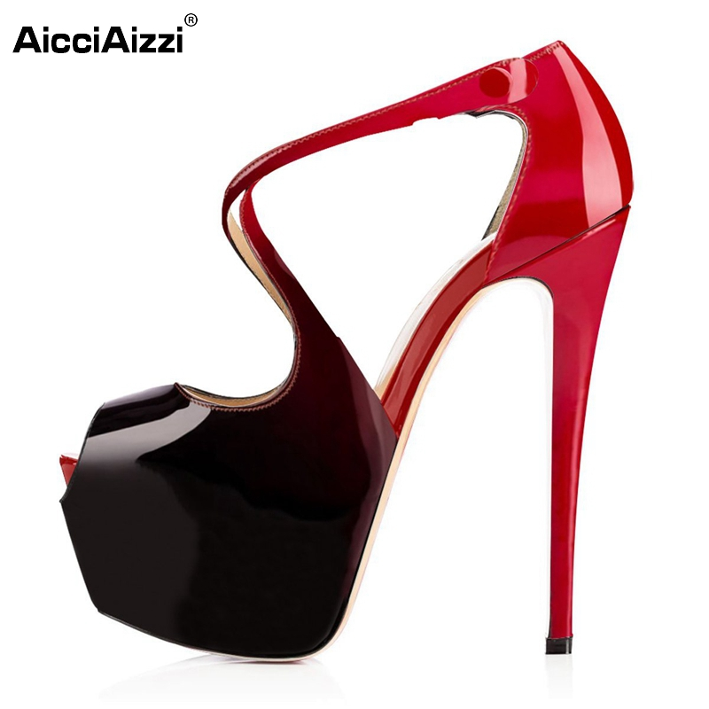 Women High Heels Sandals Sexy Gladiator Shoes Woman Open Toe Thin Heel Sandals Ladies Candy Color Party Shoes Size 35-46 B062 women brands shoes evening high heels black patent leather sandals open toe thin heel sexy party shoes new arrival 2017 handmade