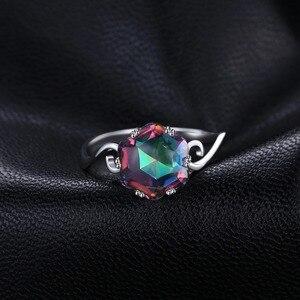 Image 2 - JewelryPalace 3ct oryginalna tęcza tajemniczy pierścionek z topazem 925 srebro pierścionki kobiety pierścionek zaręczynowy srebro 925 kamieni szlachetnych biżuteria