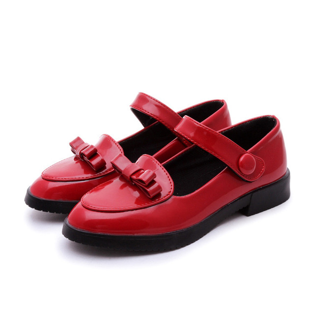 2016 spring shoes ethnic style elegant bow princess shoes girls school shoes children's shoes high heels Size 13-3 free shipping