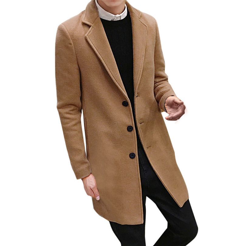 fashion Men Autumn Winter Formal Single Breasted Figuring Overcoat Daily casual Long Wool Jacket Outwear Top #4M25 (13)