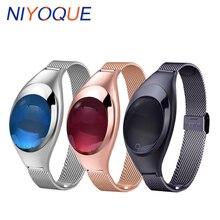 Niyoque модные Z18 наручные Приборы для измерения артериального давления сердечного ритма Мониторы наручные часы Smart Band Android IOS роскошные часы женщины подарок