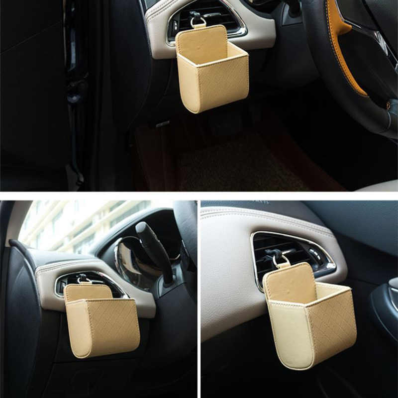 PU en cuir prise de voiture évents poubelle voiture téléphone siège sac de rangement pour Lexus ES250 RX350 330 ES240 GS460 CT200H CT