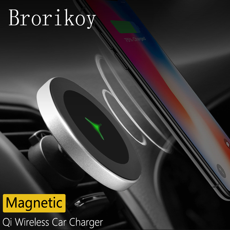Qi Wireless Charger Car Air Vents Clamp Magnetic Stand Holder W3 Charging for iPhone X 8 Samsung S8/S9 Plus Wireless ChargerQi Wireless Charger Car Air Vents Clamp Magnetic Stand Holder W3 Charging for iPhone X 8 Samsung S8/S9 Plus Wireless Charger