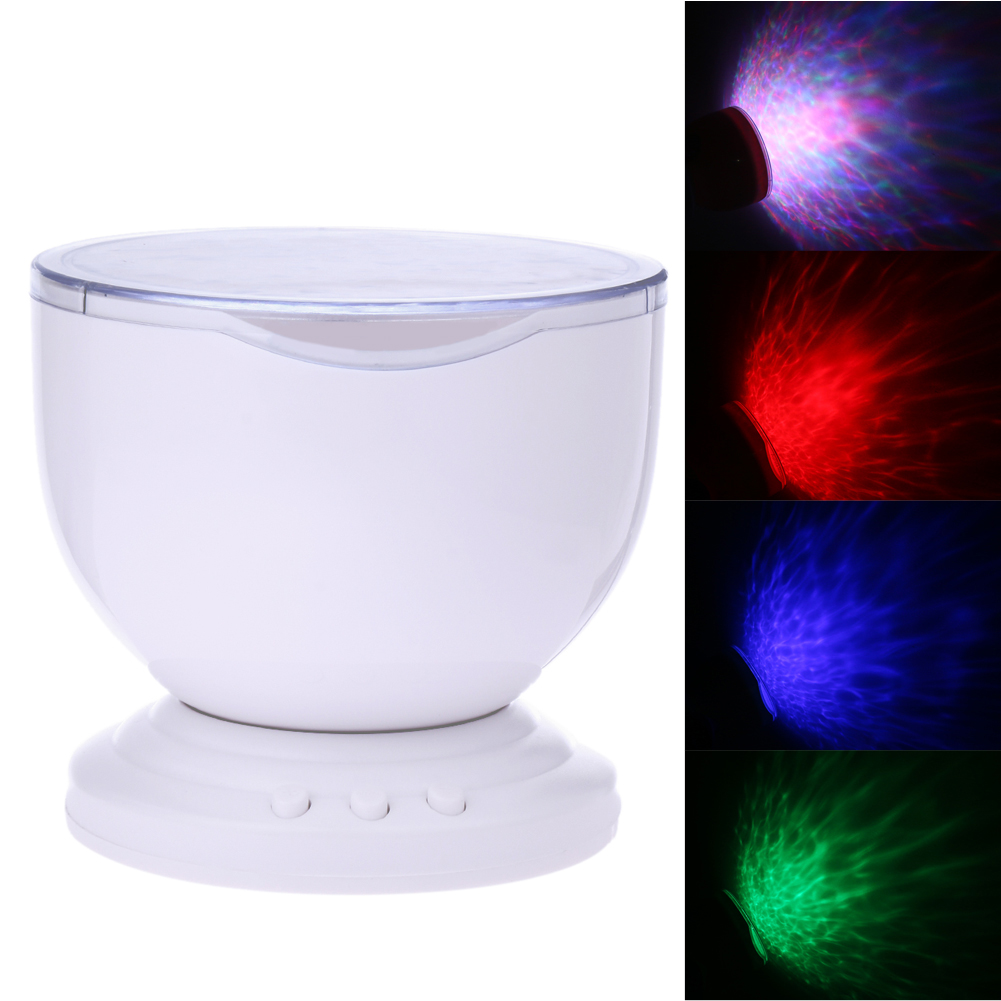 Romantic 7 Colorful LED Projector Light With Speaker USB Rainbow Ocean Wave Smart Projector Light Lamp