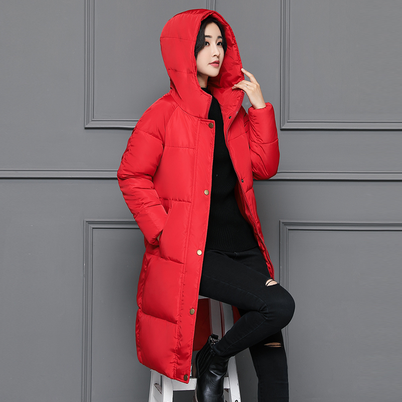 Free shipping new 2017 Winter Coats Women Jackets Fur Collar Thick Ladies Down & Parkas hooded cotton woman outwear jacket