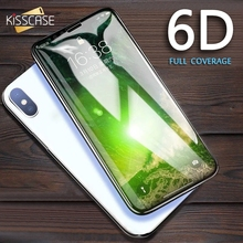 KISSCASE 6D Tempered Glass For iPhone 7 6 6s 8 Plus Cure Screen Protector XS Max XR X Full Hydrogels