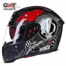 Echtes GXT Sommer Winter Motorrad Helm Full Face Schädel Roller Motorrad Motor Bike Helm Motorrad Helme