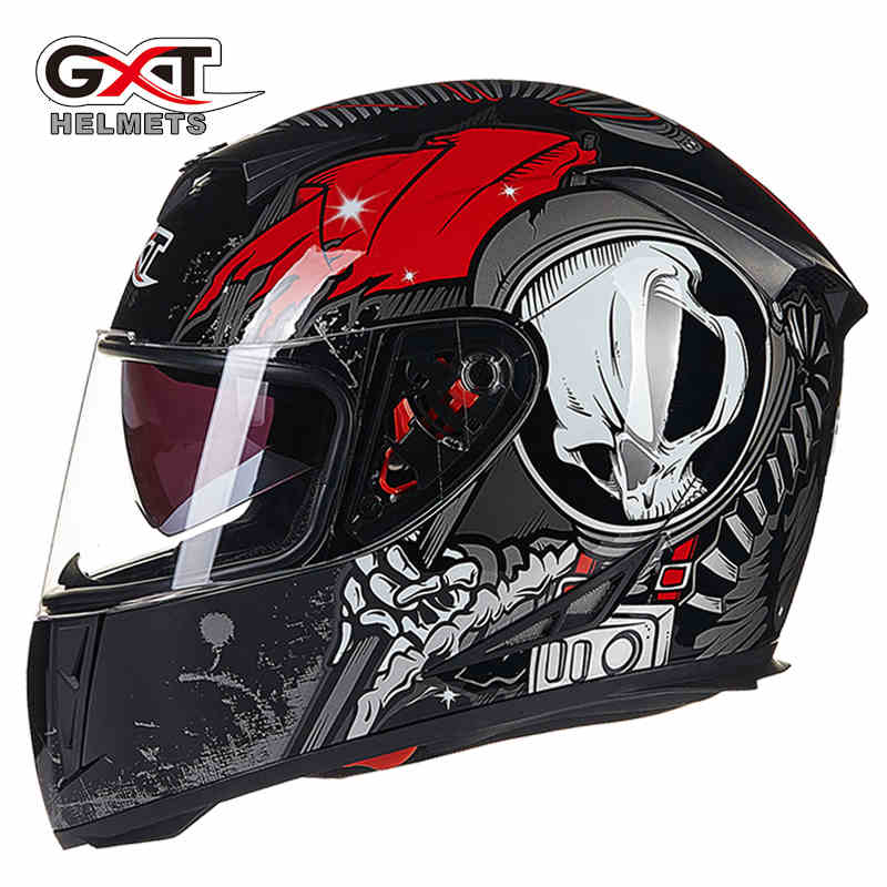 Genuine GXT Summer Winter Motorcycle Helmet Full Face Skull Scooter Motorbike Motor Bike Helmet Motorcycle Helmets