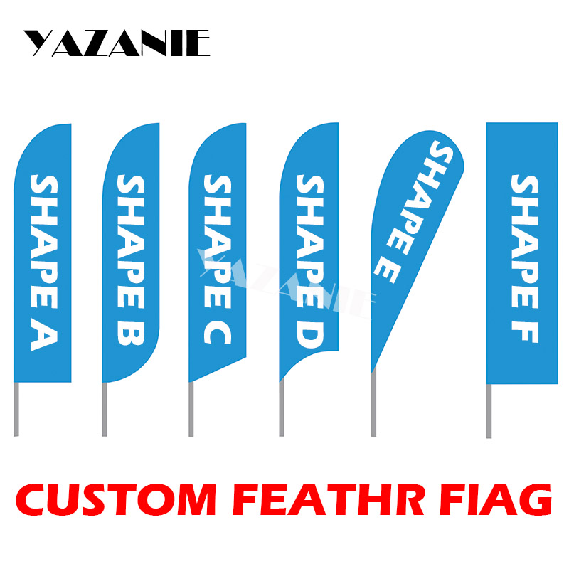 US $9 36 26% OFF|YAZANIE Graphic Printing Custom Blade Feather Flag Signs  Beach Bowflag Teardrop Banner Flag for Outdoor Advertising Promotion-in