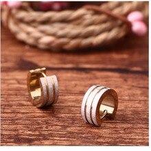 Купить с кэшбэком 2018 Jing yang titanium earrings for women earings fashion jewelry korean earing jewellery oorbellen femme Stud punk girl's