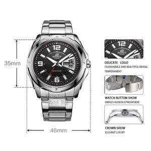 Image 2 - Casio Watch Horloge mannen Quartz Analoog Sport Klok Heren Horloges top brand Luxe 100 m Waterdicht Roestvrij Stalen Militaire Polshorloge Relogio Masculino EF 129 Relojes