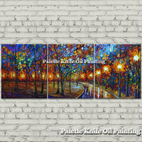 Hand painted Canvas Oil painting Wall Pictures for Living room wall decor art canvas painting palette knife landscape 26